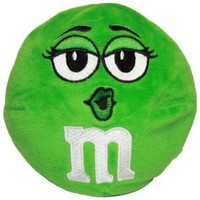 M&M Character Face Plush Pillow, Green