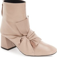 Topshop 'Marilyn' Square Toe Bow Bootie (Women) | Nordstrom
