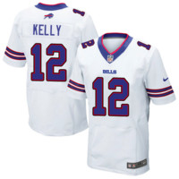 KUYOU Buffalo Bills Jersey - Jim Kelly White Game Jersey