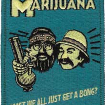 CHEECH CHONG MARIJUANA, Officially Licensed, Iron-On / Sew-On, Embroidered Patch