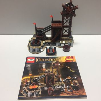 LEGO The LOTR 9476 The Orc Forge!! Used with Instructions - NO Minifigs!!