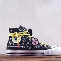 HCXX Converse x BT21 Hight Canvas Skate Shoe Black