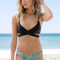 L*Space Swim - Chloe Wrap Top | Black