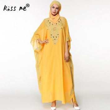 Loose Beach Caftan Swimsuit Cover Up Embroidered Chiffon Pareo Women Robe Plage Swimwear Dress Sarong Beach Tunic with Headband