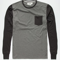 Billabong Zenith Mens Pocket Tee Dark/Grey  In Sizes