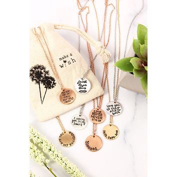 Dainty Message Necklaces