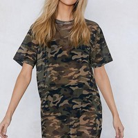 You Mesh Believe It Camo Dress