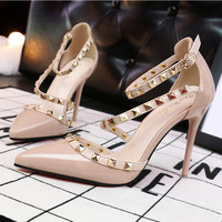 Stiletto Studded  High Heels - 2 colors