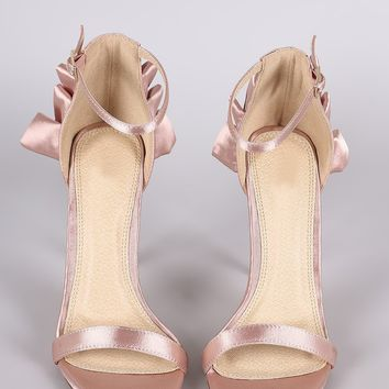 Satin Ruffle  Dress Heels