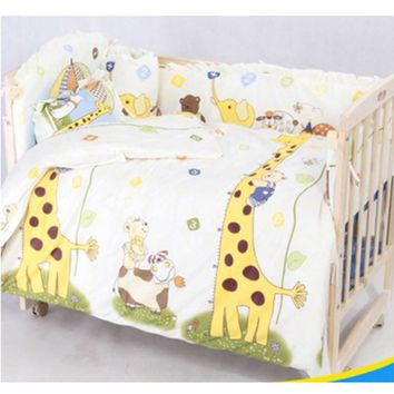 OUTAD New Cute 100*58cm/110*60cm 5pcs/Set Promotion Cotton Baby Children Bedding Set Comfortable Crib Bumper Organizer Cot Kit