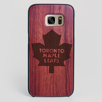 Toronto Maple Leafs Galaxy S7 Edge Case - All Wood Everything