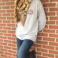 Monogrammed ADULT Long Sleeve Tee Shirt