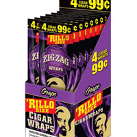 Zig Zag 'Rillo Size Wraps - Grape (Box of 60)