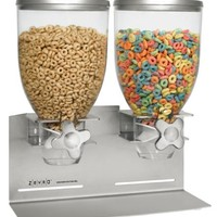 Zevro Dual Dry food Dispenser, Stainless Steel