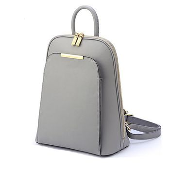 Simple Solid Colors Backpack Totes