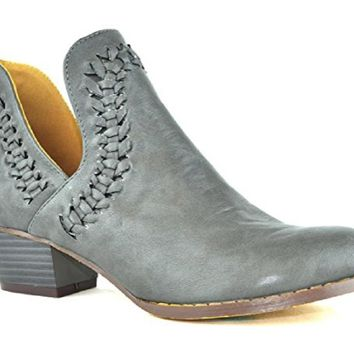 Women's Ted-8 Low Stacked Heeled Women's Ankle Boots