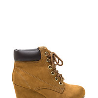 Will Work 4 Faux Suede Wedge Booties