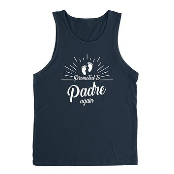 Promoted to padre again   new daddy father o be pregnancy announcement gift for dad daddy father Tank Top
