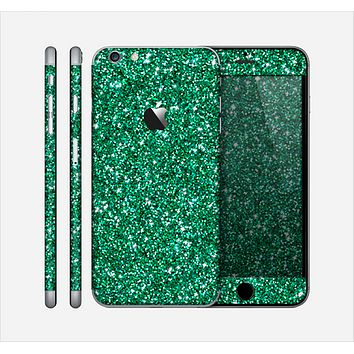 The Green Glitter Print Skin for the Apple iPhone 6 Plus