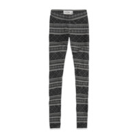 a&f high rise pattern leggings