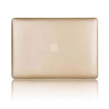 Gold laptop case protective shell for mac air 11 13/for mackbook pro retina 15 notebook +sleeve silicone keyboard without logo