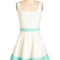 ModCloth Pastel Mid-length Sleeveless A-line Tale of Cute Cities Dress