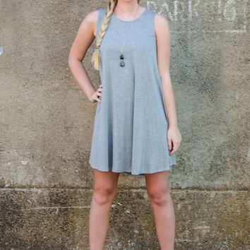 Blossoming Love Dress: Grey