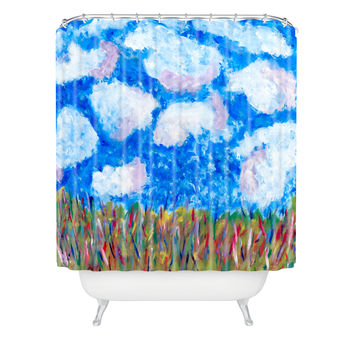 Fresh Artists Blue Sky Shower Curtain