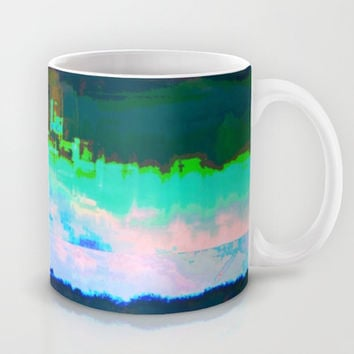 18-23-46 (Skyline Cloud Glitch) Mug by acousticdemons