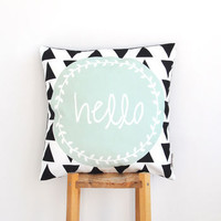 'Hello' Modern Cushion