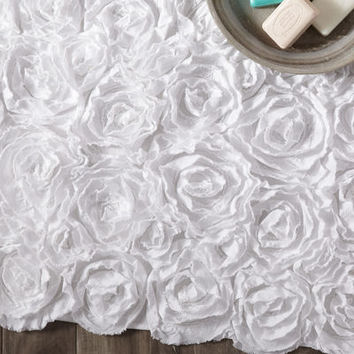 Rosette Bath Rug Collection