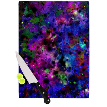 "Ebi Emporium ""Color Me Floral"" Celestial Blue Cutting Board"