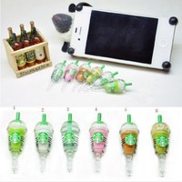 Leegoal 6 pcs (whole set) StarBucks Frappuccino, Milk Cell Phone Charm 3.5mm Anti Dust Earphone Jack Plug iphone 4 4S