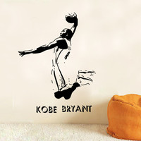 NBA Basketball Super Star Kobe Bryant Character Wall Decal