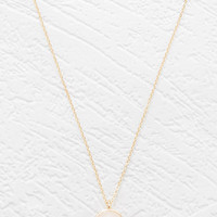 Two-Tone Faux Stone Necklace