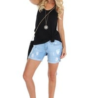 Light Cuffed Shorts