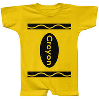 Crayon Costume Yellow Baby Romper