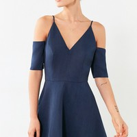 Keepsake Slow Motion Cold Shoulder Mini Dress
