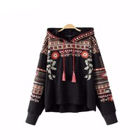 Cameron Vintage Rose Embroidered Hoodie