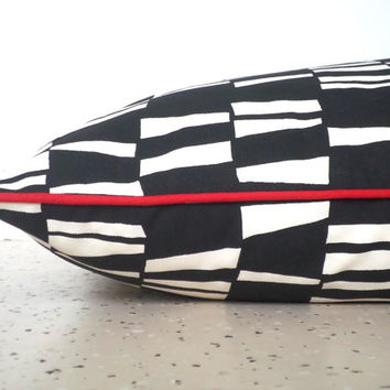 Black dog bed cover in 25x36, black and natural floor pillow case, geometric floor cushion, modern dog cushion cover