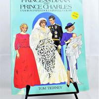 Princess Diana Paper Doll, Prince Charles, Uncut, 1985, Tom Tierney, Vintage Collectibles