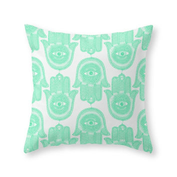 Society6 Hamsa Throw Pillow