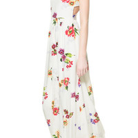 LONG PRINTED DRESS WITH OPENING AT THE BACK - Trf - Dresses - Woman | ZARA United States