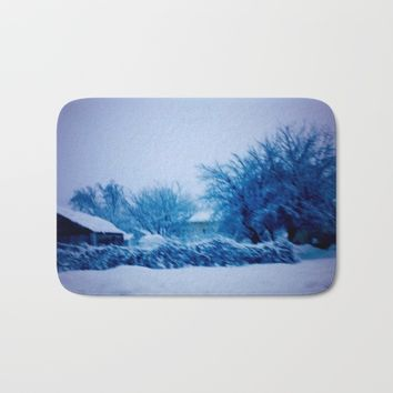 winterscape Bath Mat by Jessica Ivy