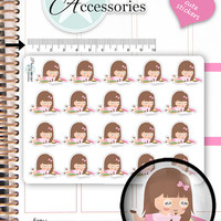 Bookworm Planner Stickers Reading Stickers Book Planner Stickers Cute Stickers Erin Condren Functional Stickers Kawaii Stickers NR1367