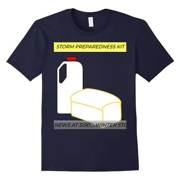 Bread And Milk Meme Hurricane And Snow Storm T-Shirt