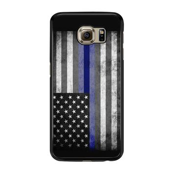The Thin Blue Line American Police Officer Samsung Galaxy S6 Edge Case