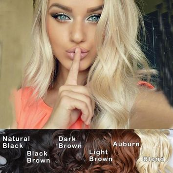 The Best Wedding hairstyle Curly Wave Clip in Hair extensions hair wigs = 5658512257