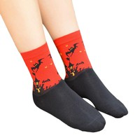 3D Fashion Cartoon Halloween Elastic Socks Lovers Socks Women Cotton Socks For Female Cute Animal Prints Long Socks