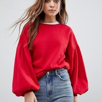 Only Baloon Sleeve Jumper at asos.com